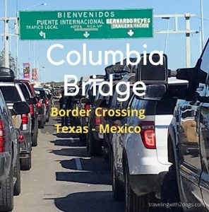 Texas-Mexico Columbia Bridge Border Crossing With A Dog